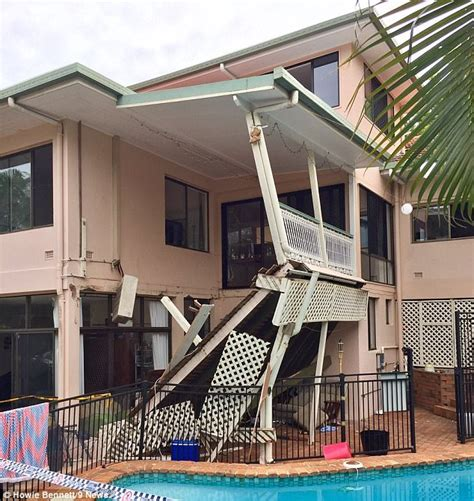 second floor balcony nine injured after balcony collapse at brisbane party