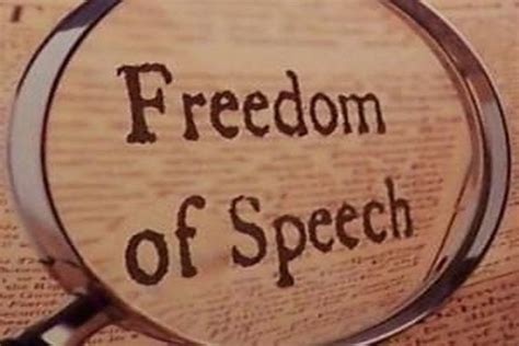 Right To Free Speech Quotes Quotesgram Free Speech