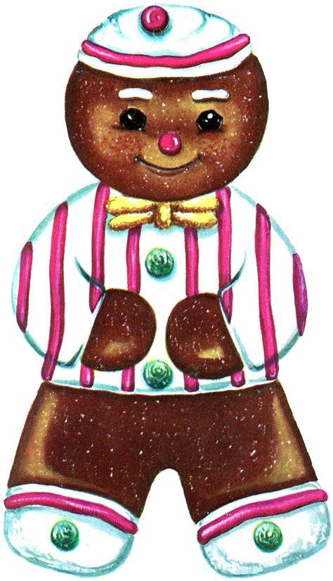 printable ornaments gingerbread man retro bird