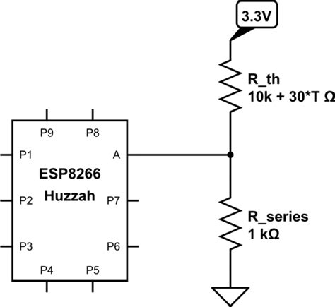 esp8266 10k resistor arduino ide help using thermistor with esp8266 arduino stack exchange