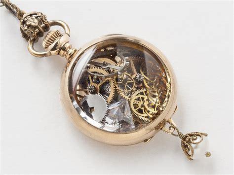 Pocket Necklace steunk pocket necklace 14k gold filled