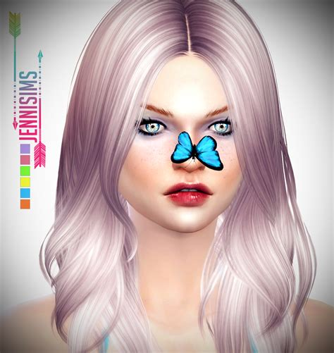 butterfly sims hair sims 4 jennisims downloads sims 4 butterfly nose butterfly hair