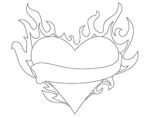 coloring pages of hearts on fire hearts on fire pages coloring pages