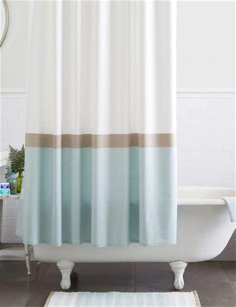 horizon curtains horizon stripe shower curtain everything turquoise