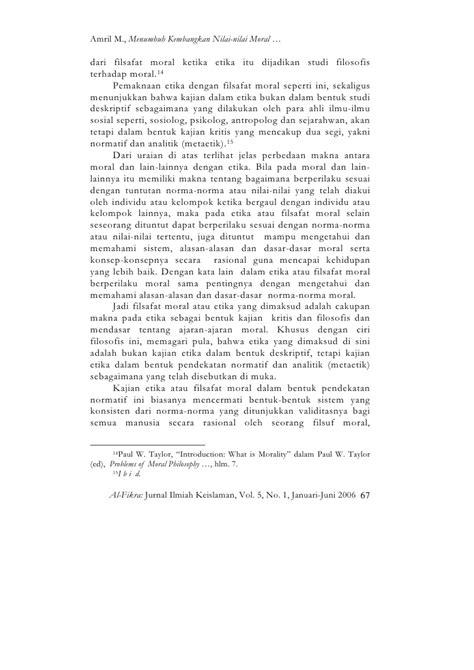 Filsafat Moral Agustinus W Dewantara Kanisius 165 amril mansur