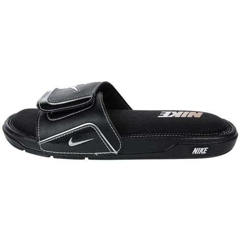 nike comfort slide 2 mens nike comfort 2 men s slide sandals black black silver