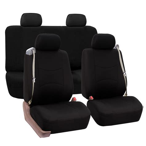integrated headrest seat covers car seat cover set integrated seatbelt 4 headrest
