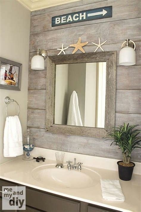 seaside ornaments for bathroom beach theme bathroom love the quot drift wood quot behind the