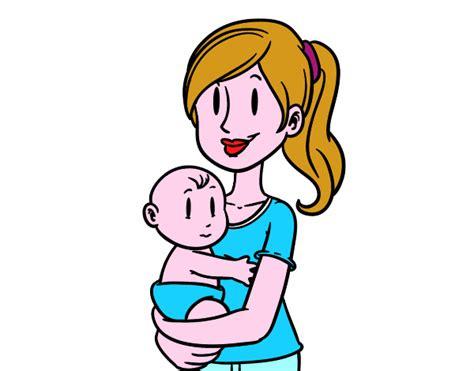 imagenes de mama con sus hijos en caricatura dibujo mama y beb 233 imagui