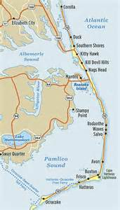 map of outer banks of carolina la vida buena in the obx y all