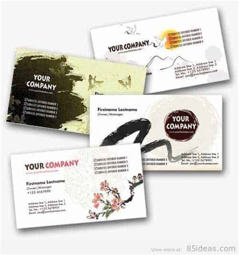 japanese business card template free 38 free psd business card templates 85ideas