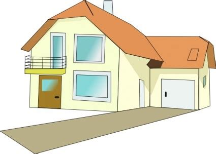 drawing of a house with garage haus clipart vektor clipart kostenlose vector kostenloser
