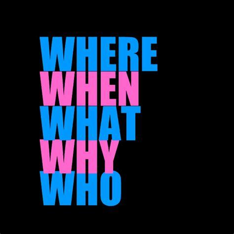 preguntas con who y what hacer preguntas con where when why who what