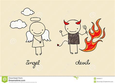 doodle god y demonio and doodle stock vector image 49460517