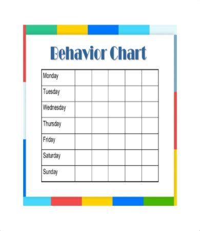 Behavior Charts For Preschoolers Template by Free Printable Behavior Chart 8 Free Pdf Documents