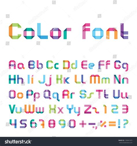 html color font color font stock vector illustration 139041473