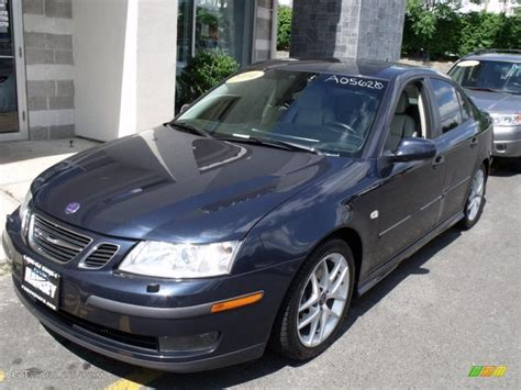 2004 nocturne blue metallic saab 9 3 aero sedan 32341146