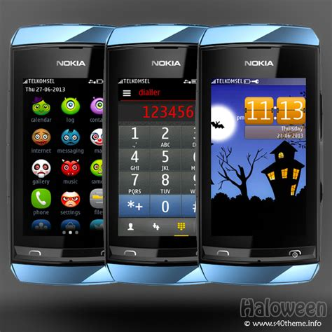 themes of nokia asha 305 haloween theme asha full touch wb7themes