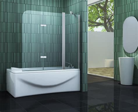 eck duschwand für badewanne duschtrennwand badewanne faltbar heimdesign