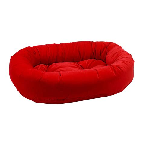 red dog bed bowsers diamond collection donut pet bed