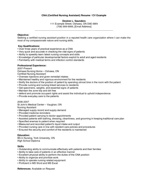 Resume Without Objective by Sle Resume For Caregiver Without Experience Sle Resumes