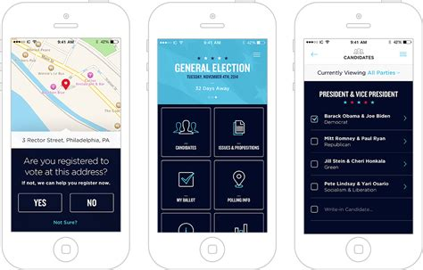 design home app voting concept app intuitive voting wants you to vote from your