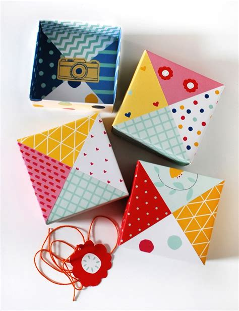 How To Make A Paper Bo - make patchwork paper origami gift boxes we are scout
