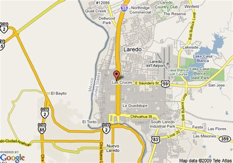 map laredo texas map of relax inn laredo