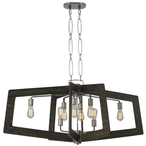 varaluz lofty 4 light varaluz lofty 8 light faux zebrawood and steel oval linear