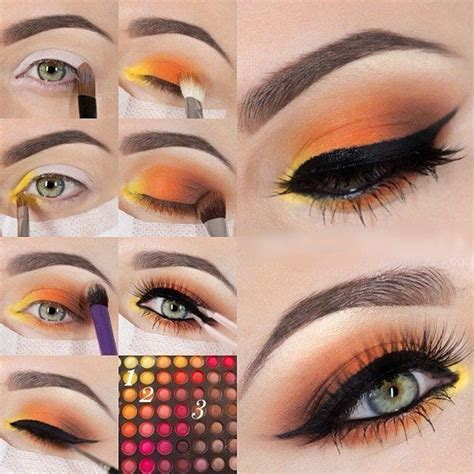 tutorial makeup lipstik orange colorful eyeshadow tutorials for blue eyes makeup tutorials