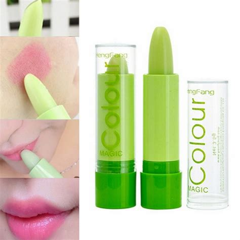 magic green color changing lip makeup lasting