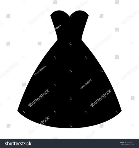 Id Silhouette Dress wedding ceremony dress silhouette simple stock vector 437125111