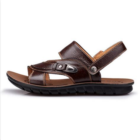 buy 2015 summer new design casual sandals fashion leather sandals slippers