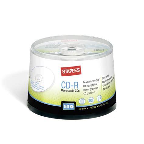 Staples Printable Cds staples printable blank cd r 700 mb 80 min 52 x speed