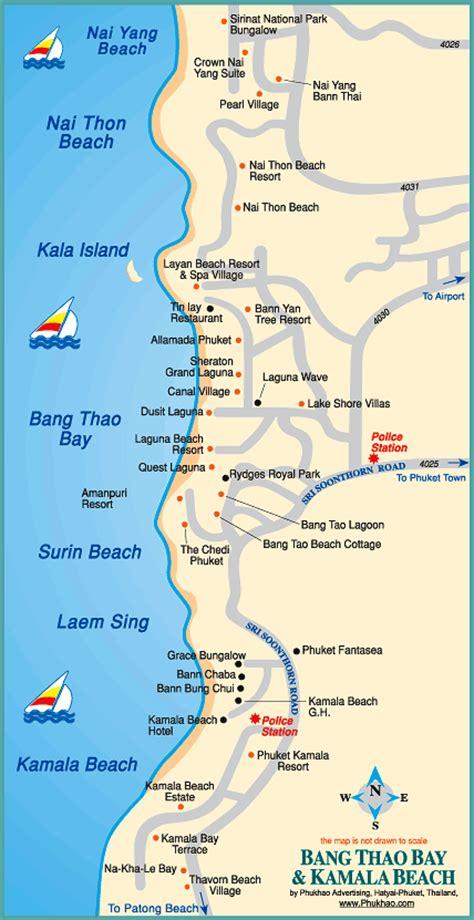 kamala resort map large map of surin kamala tao map