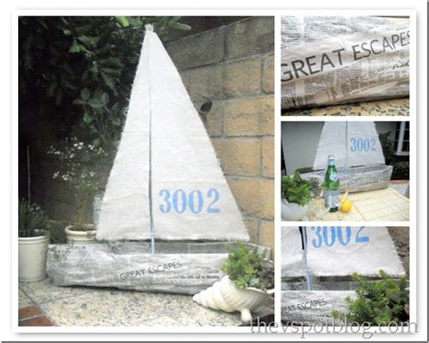 How To Make A Paper Mache Boat - make a big newspaper sail boat using everyday items