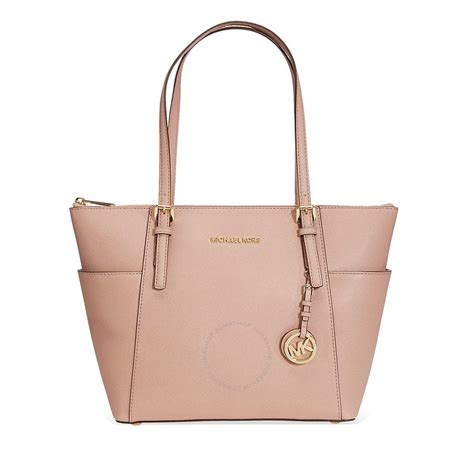 Micheal Kors Michael Kors Jet Set Saffiano Leather Tote Fawn Jet