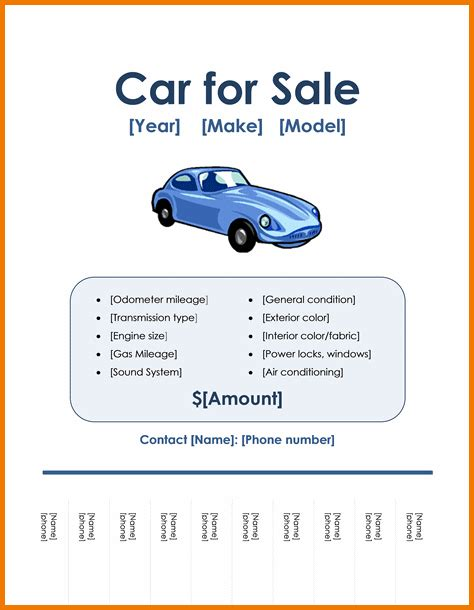 Microsoft Word For Sale Authorization Letter Pdf Car For Sale Flyer Template Free