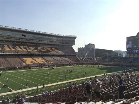 bank sections tcf bank stadium section 115 rateyourseats com