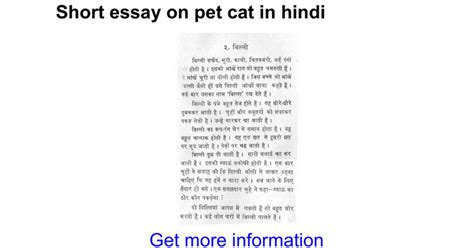 Essay About Cats by Essay On Pet Cat In Docs