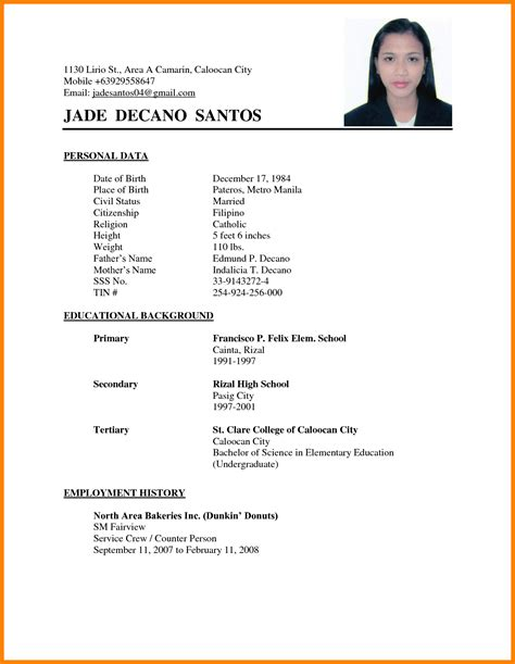 Resume Sle Format Tagalog 28 Tagalog Resume Format Tagalog Na Resume Format Ebook Database Resume Format Sle In The