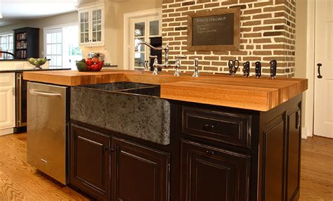 Wood Tops For Kitchen Islands by Oak Wood Kitchen Island Counter In Bryn Mawr Pennsylvania