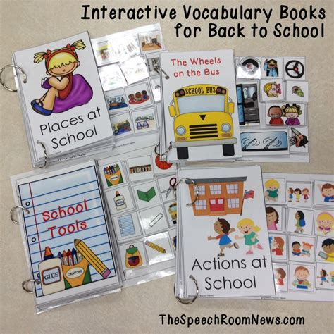 interactive picture books interactive vocabulary books for back to school