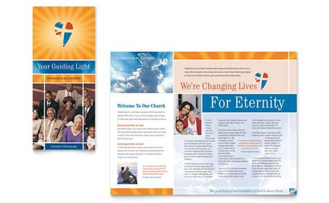 church brochure templates free evangelical church brochure template design