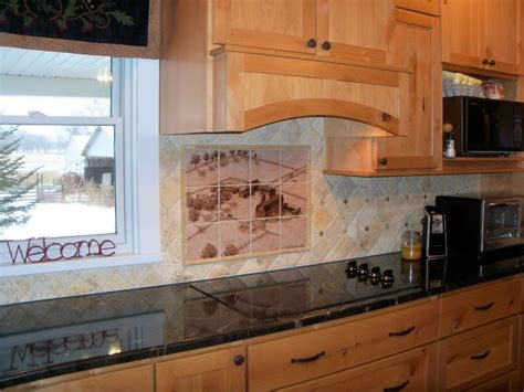 hand painted tiles for kitchen backsplash quot 1953 concord michigan farmstead quot hand painted kitchen