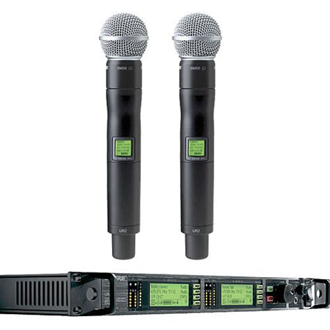 Microphone Wireless Shure Uhf 555 Wireless Microphone 2 Clip On shure uhf r professional diversity wireless ur24d sm58 x1 b h