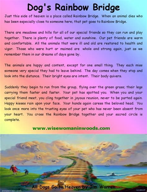 poems about dogs dying sizes rainbow bridges poems s and the rainbow bridge adorable