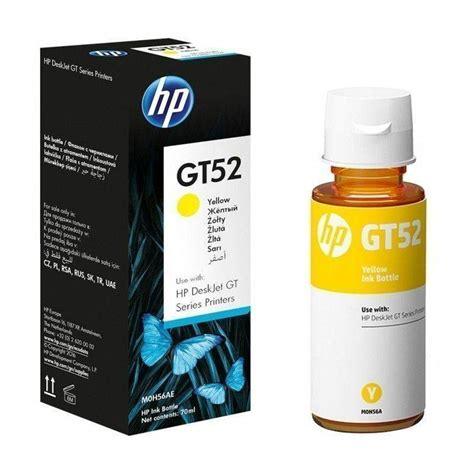 Tinta Gt52 Tinta Hp Gt52 Original Amarilla