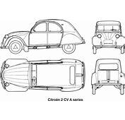 Clipart  Citroen 2CV A Series Year 1960