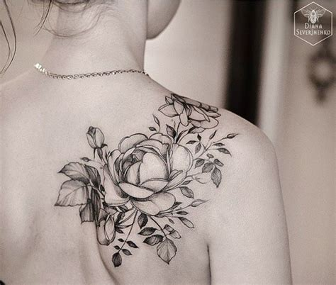 tattoo across shoulder blades 30 best rose tattoo across shoulders images on pinterest